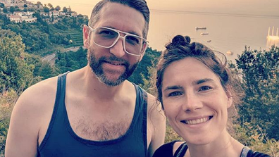 Amanda Knox with her fiance.