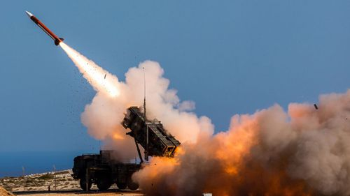 A Patriot Missile is test fired in Saudi Arabia. (AP).