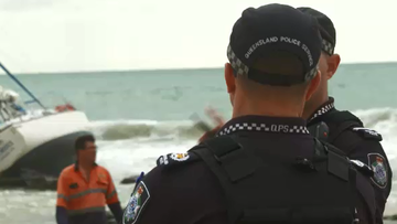 Queensland police oversee sea search effort.