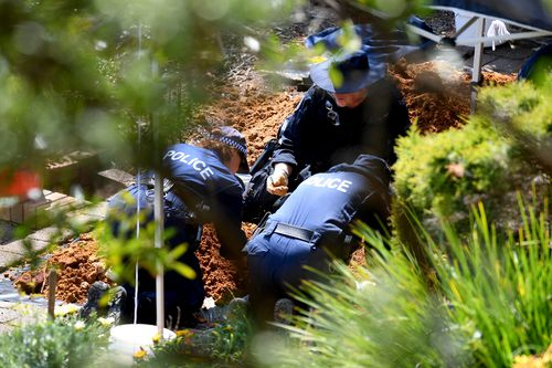 A police dig at the old Dawson home brought up no new evidence.