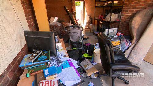 A look inside the garage of Ertunc Eriklioglu's home.