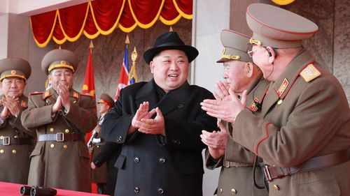 North Korean leader Kim Jong-un enjoys showing off his country's military might. (AAP)