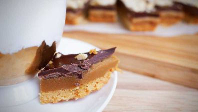 Cheat's easy caramel slice