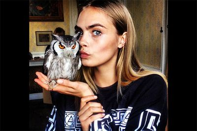 "As far as pouty pics go, this is certainly the most unique pose we've ever seen. And who better to bring in a new craze of <i>owlface</i> photos than the eternal London ""it"" girl, Cara Delevingne. <br/><br/><i>Image: Instagram @caradelevingne</i>"