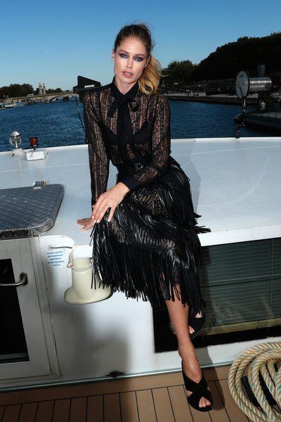 Doutzen Kroes attends the After Party of Le Defile L'Oreal Paris as part of Paris Fashion Week