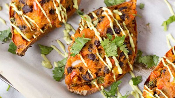 Loaded Mexican sweet potato recipe