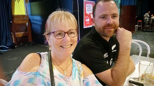 Brad Smyth with his mother Julie.
