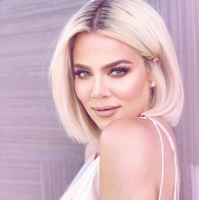 Khloé Kardashian, blonde hair, selfie