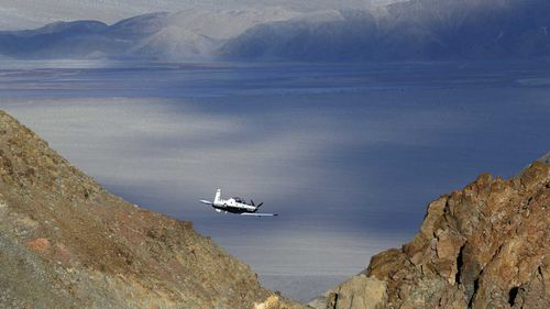 Tourists routinely visit the part of Death Valley were pilots race through a canyon.