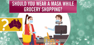 The answer to whether you should wear a mask depends on where you live. Although Woolworths have encouraged many of its customers to do so.
