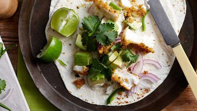 "Recipe:&nbsp;<a href=""http://kitchen.nine.com.au/2016/05/16/12/53/spicy-fish-tortillas"" target=""_top"" draggable=""false"">Spicy fish tortillas</a>"