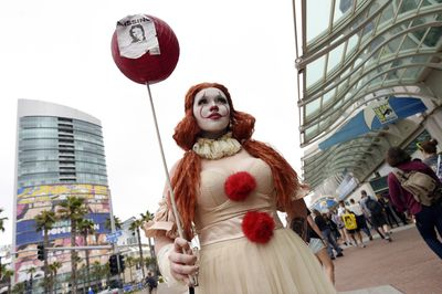 Princess Pennywise is lurking at International Comic-Con to make sure you don't sleep tonight.