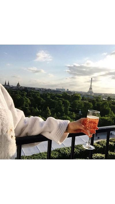 <p>Pernille Teisbaek takes in the Parisian view.</p>