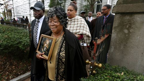 The parents of Walter Scott, Walter Scott Sr. and Judy Scott, leave the courthouse after former North Charleston police officer Michael Slager was sentenced to 20 years in prison for the 2015 shooting death of their son (Image: AP)