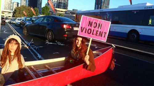 Extinction Rebellion have been blocking roads to draw attention to environmental issues.