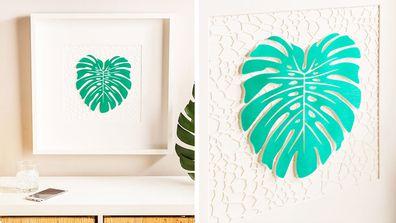 Cricut Joy project leaf wall art