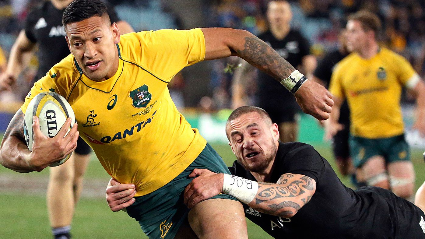 TJ Perenara and Israel Folau