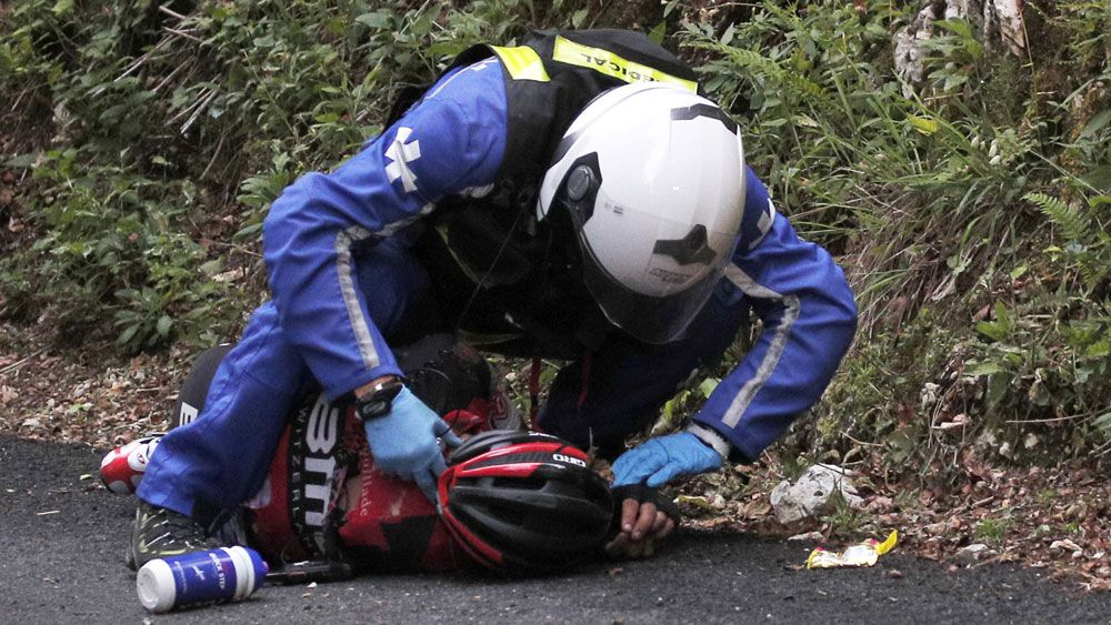 Sickening crash ends Richie Porte's Tour