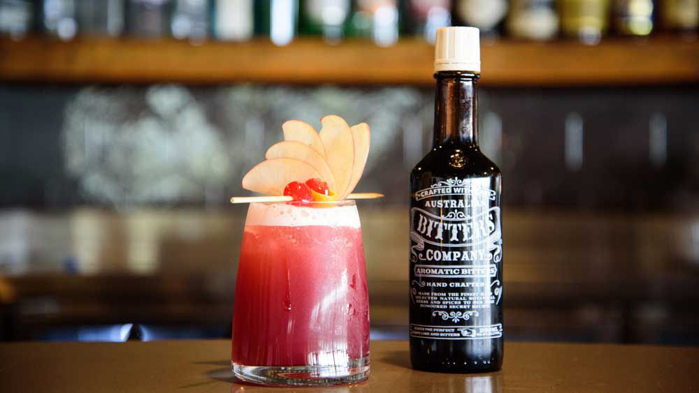 Queens Wharf Hotel's Christmas in July fruit mocktail. Image: Australian Bitters
