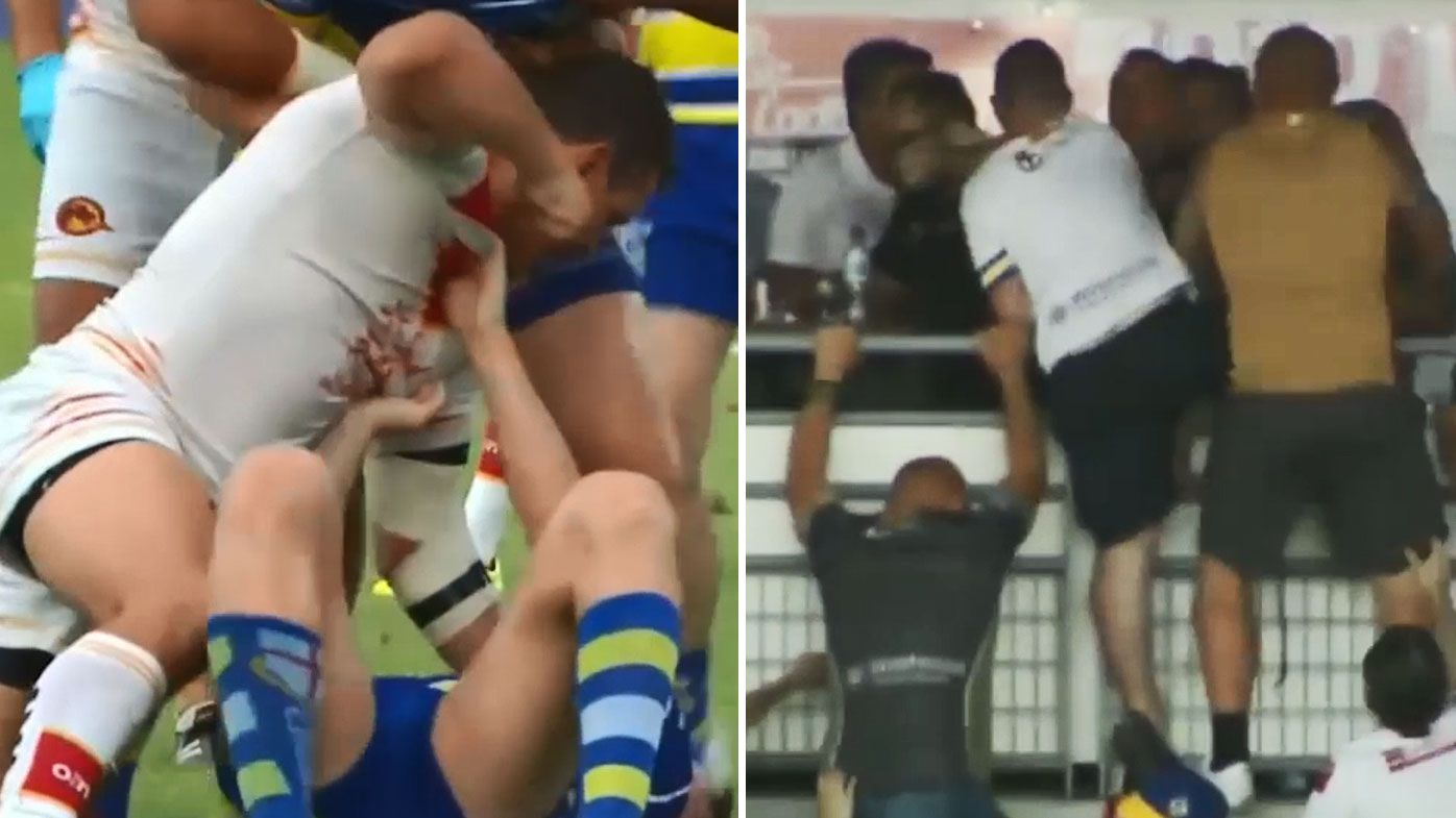 Super League probes ugly scenes in France after wild brawl