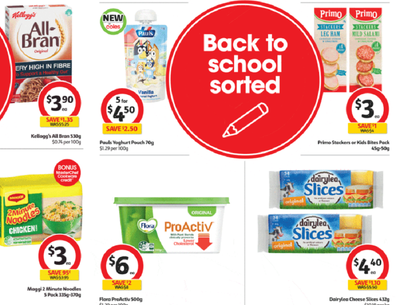 Coles has gone hard on back to school snacks this week.
