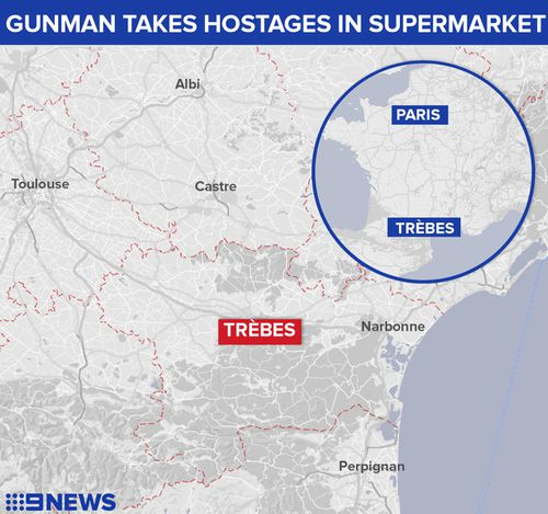 rebes is located in southern France about 100km south-east of Toulouse. (9NEWS)