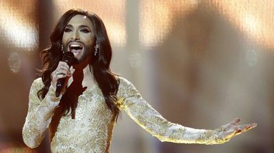 <p><b>7.</b> Conchita Wurst. (AAP)</p><p> Austrian Thomas Neuwirth – otherwise known by his drag stage persona 'Conchita Wurst' – hit headlines after winning the 2014 Eurovision Song Contest.</p><p> Thanks to his iconic beard Neuwrith, as Wurst, fast became a worldwide icon for the gay and lesbian community. </p>