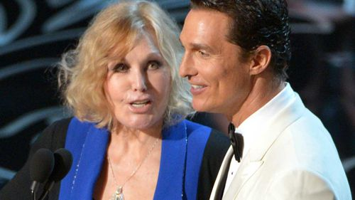 Kim Novak and Matthew McConaughey at the 2014 Oscars. (AAP)