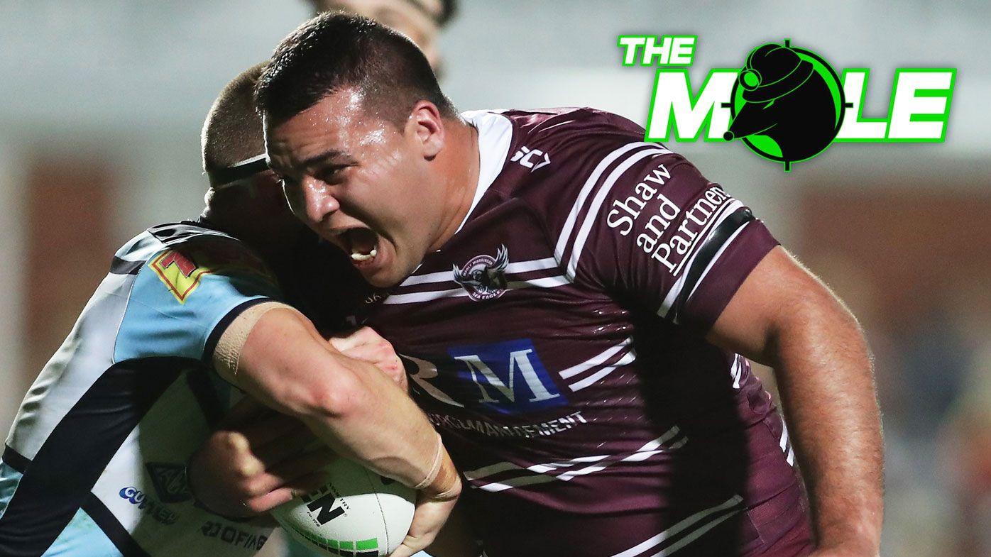 Lloyd Perrett in action for Manly.