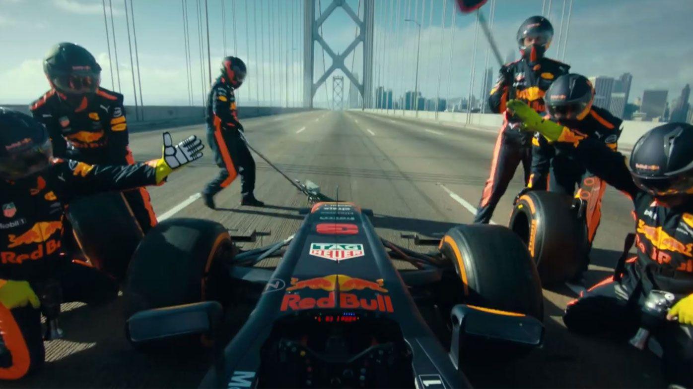 Daniel Ricciardo road trips around America in championship Red Bull F1 car