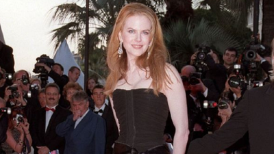 <p>Nicole Kidman wore a gorgeous black YSL corset dress at the Cannes film festival in 2001, shortly after he split from first husband Tom Cruise.</p>