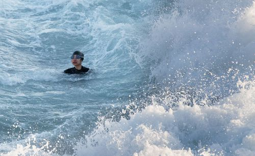 The local woman was fighting for life in the dangerous surf at Bronte Beach yesterday morning.