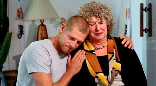 Mick Fanning and his mother Elizabeth Osborne.