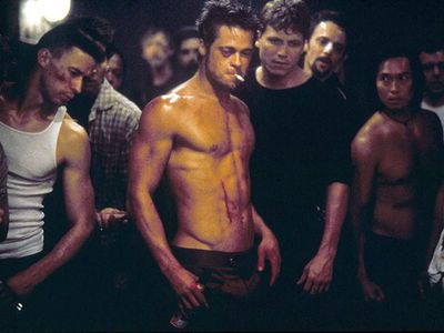 Brad Pitt was still considered something of a pretty boy before he took off his top and got down and dirty in the bare-knuckle brawls of David Fincher's Fight Club. But after exposing audiences to his abdomen in the 1999 cult hit, the star took his career in a whole new director and forced many film fans to repeatedly break the first rule of underground fisticuffs by talking incessantly about his physique.
