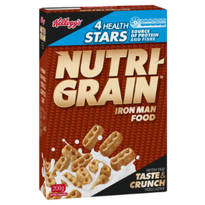 <strong>Nutri-Grain (5.1 grams of fibre per 100 grams)</strong>