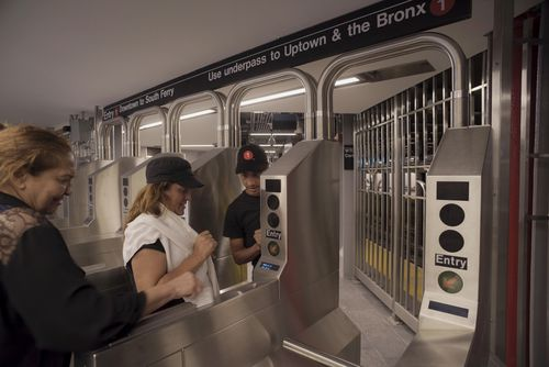 Restoring the train system was symbolic of New Yorkers' resolve, a transport spokesman said.