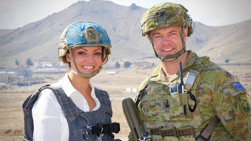 Reporter Gabrielle Boyle was given a rare insight into the training school. (9NEWS)