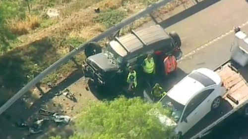 A number of cars were involved in the crash. (9NEWS)