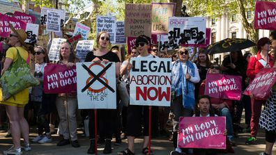 Ireland will vote in a landmark referendum today to decide whether to repeal the legislation and make abortion before 12 weeks legal. (Getty)