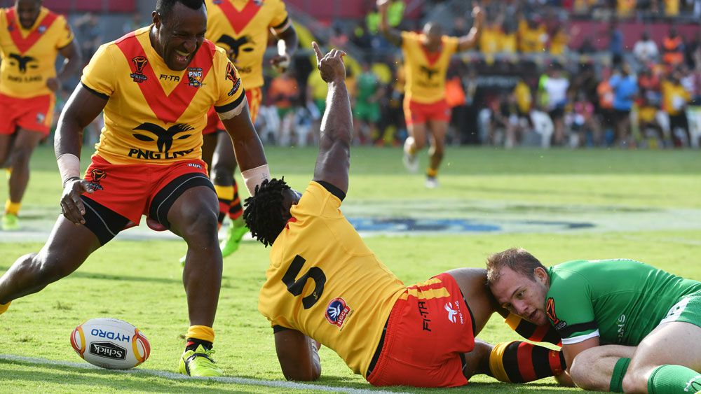 PNG score gritty Rugby League World Cup win over Ireland in Port Moresby