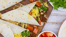 Tex Mex beef burritos with guacamole