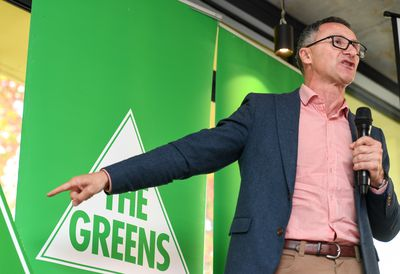 Federal Greens leader Richard Di Natale speaks at his party's campaign launch in Prahran.