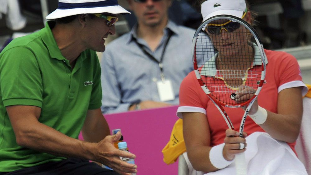 Sam Stosur (R) with David Taylor. (AAP-file)