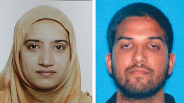 Tashfeen Malik and Syed Farook were killed in a shootout with police after shooting dead 14 people. (Supplied)