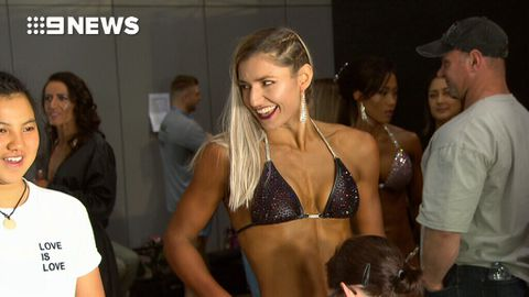 Ex-PM's daughter Frances Abbott competes in bodybuilding competition