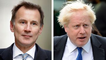 Boris Johnson Jeremy Hunt Brexit UK leadership
