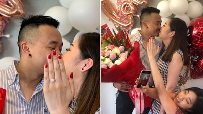 The hilarious story behind his engagement announcement goes viral