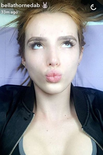 Bella Thorne Tattoos Her Eyebrows And Snapchats The Entire Procedure 9celebrity