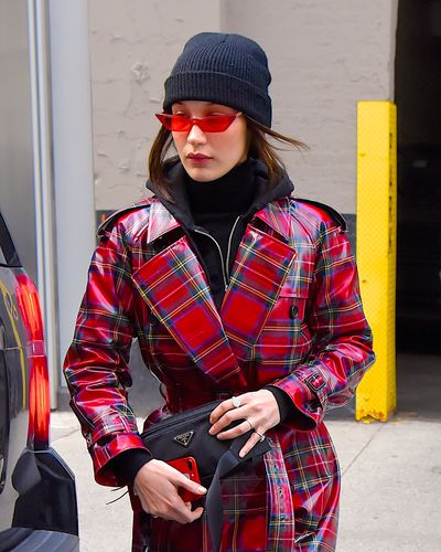 Bella Hadid in sunglasses from Poppy Lissiman, January 2018