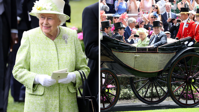 Queen attends final day of royal ascot with Prince Andrew